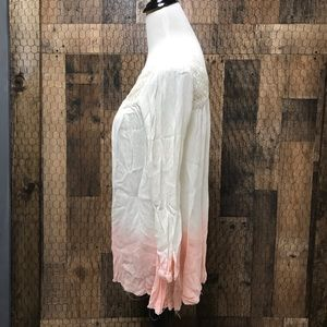 Free People Tops - Free People Pink White Ombré Tunic Top Small